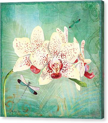 Morning Light - Dancing Dragonflies Canvas Print by Audrey Jeanne Roberts