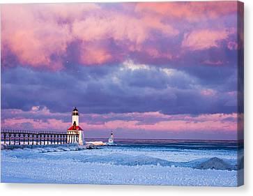Morning Light In Michigan City Canvas Print by Jackie Novak