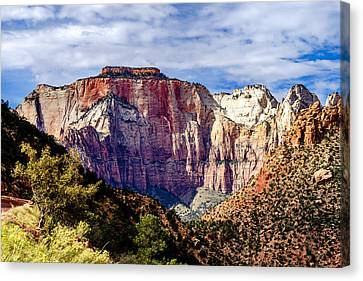 Morning Light On Zion's West Temple Canvas Print