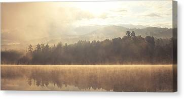 Morning Light Over The Mountains Canvas Print by Stephanie McDowell