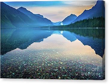 Lake Mcdonald Canvas Print - Morning Magic by Inge Johnsson