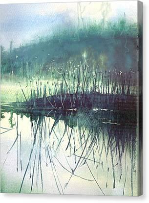 Morning Marsh Canvas Print by Gertrude Palmer
