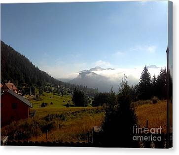 Morning Mist In The Magical Valley Canvas Print