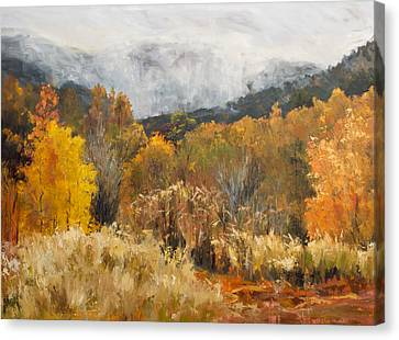 Southern Utah Canvas Print - Morning Mist by Kit Hevron Mahoney