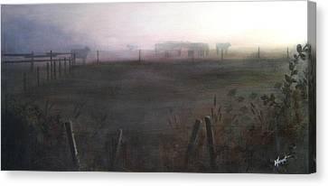 Morning Mist Canvas Print by Victoria Heryet