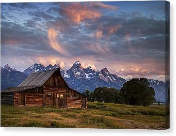 Morning Mountain View Canvas Print by Andrew Soundarajan