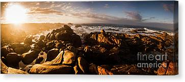 Morning Ocean Panorama Canvas Print by Jorgo Photography - Wall Art Gallery