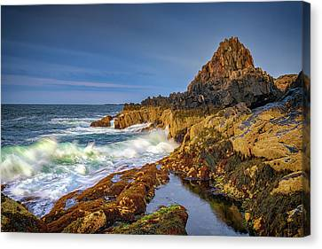 Canvas Print featuring the photograph Morning On Bailey Island by Rick Berk