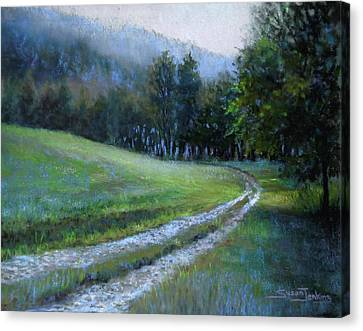 Morning On Blue Mountain Road Canvas Print by Susan Jenkins