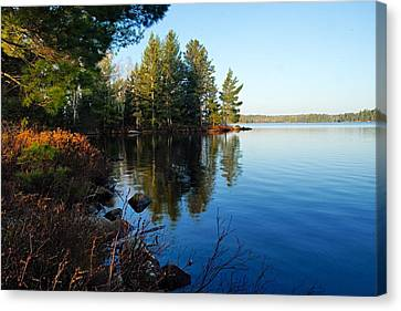 Morning On Chad Lake 3 Canvas Print by Larry Ricker