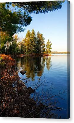 Morning On Chad Lake 4 Canvas Print by Larry Ricker