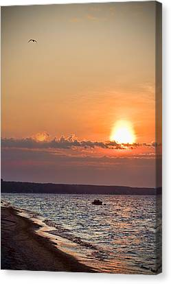 Morning On Earth Canvas Print by Michel Filion