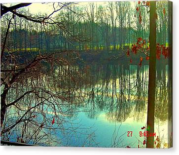 Morning On Farrington Lake Canvas Print by Aron Chervin