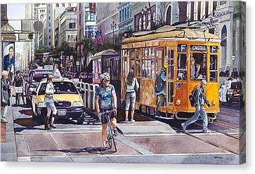 Morning On Market Street Canvas Print by Mike Hill