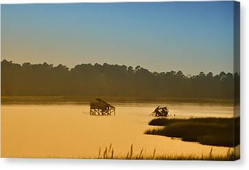 Morning On The Bay Canvas Print by Bill Cannon