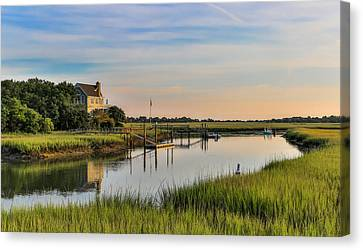 Morning On The Creek - Wild Dunes Canvas Print
