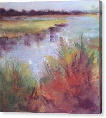 Morning On The Marsh Canvas Print