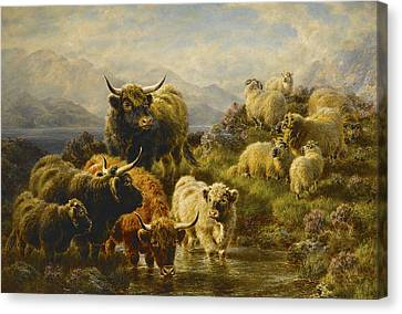 Morning On The Mountains Canvas Print by William Watson