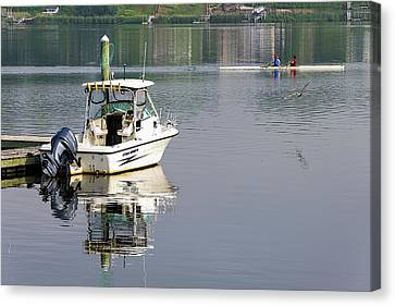 Canvas Print featuring the photograph Morning On The Navesink River 2 by Gary Slawsky