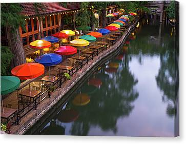 Canvas Print featuring the photograph Morning On The San Antonio Riverwalk by Gregory Ballos
