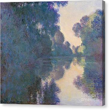 Morning On The Seine Near Giverny, 1897 Canvas Print by Claude Monet
