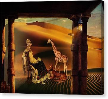 Morning On The Serengeti Canvas Print by Terry Fleckney
