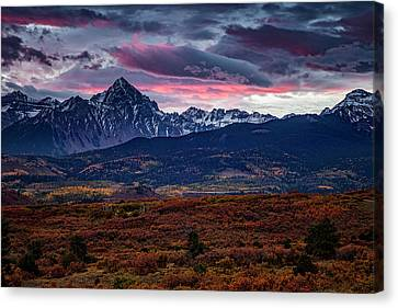Wilderness Canvas Print - Morning Over The Rockies by Andrew Soundarajan