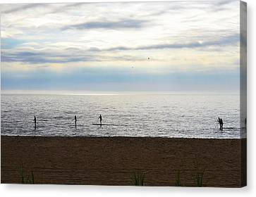 Morning Paddleboarders Canvas Print