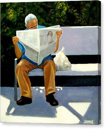 Morning Paper Canvas Print by Joyce Geleynse