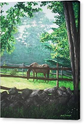 Morning Pasture Canvas Print by Jack Skinner