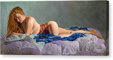 Clothed Canvas Print - Morning by Paul Krapf