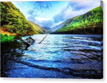 Morning Peace At The Lake Canvas Print by Debra and Dave Vanderlaan