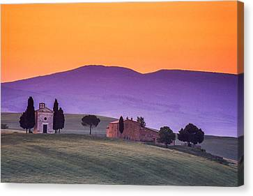 Morning Prayer In A Tuscan Dawn Canvas Print by Andrew Soundarajan