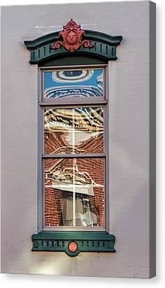 Canvas Print featuring the photograph Morning Reflection In Window by Gary Slawsky