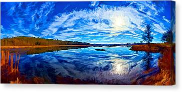 Morning Reflections At The Moosehorn Canvas Print by ABeautifulSky Photography