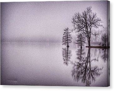Canvas Print featuring the photograph Morning Reflections by Sumoflam Photography