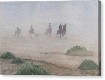 Morning Ride Canvas Print by Gabrielle England