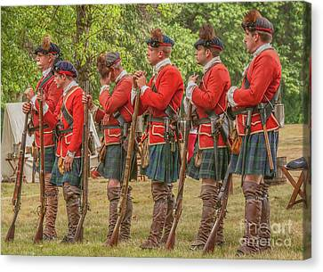 Canvas Print featuring the digital art Morning Roll Call  by Randy Steele