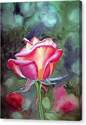 Morning Rose Canvas Print by Irina Sztukowski