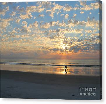 Morning Run Canvas Print