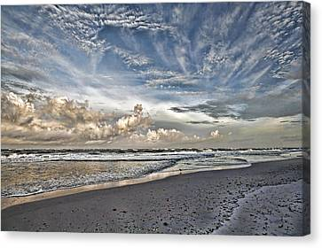 Morning Sky At The Beach Canvas Print