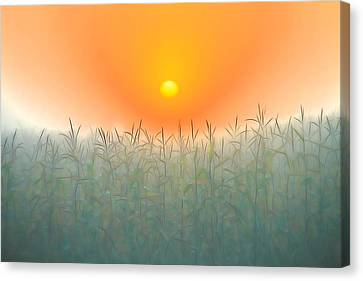 Morning Sky On The Farm Canvas Print by Dan Sproul