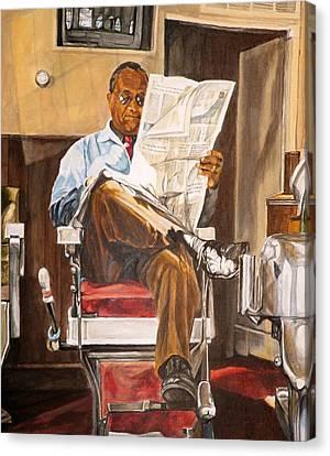 Morning Slump Canvas Print by Thomas Akers