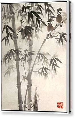 Canvas Print featuring the painting Morning Song by Ping Yan