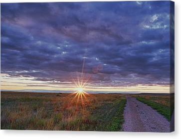 Canvas Print featuring the photograph Morning Starburst by Monte Stevens