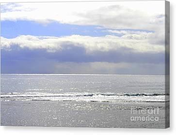 Canvas Print - Morning Storm Over A Silver Sea by Mary Deal