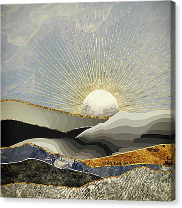 Textured Landscape Canvas Print - Morning Sun by Katherine Smit
