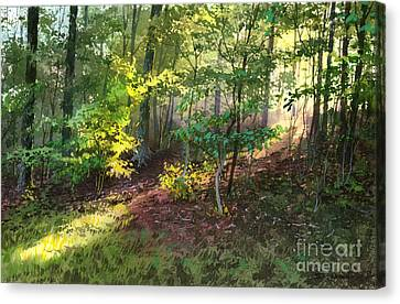 Canvas Print featuring the painting Morning Sunlight by Sergey Zhiboedov
