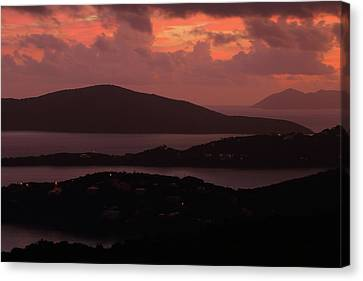 Canvas Print featuring the photograph Morning Sunrise From St. Thomas In The U.s. Virgin Islands by Jetson Nguyen