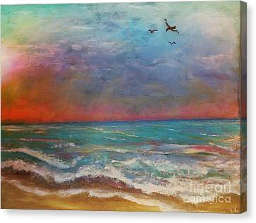 Canvas Print featuring the painting Morning Sunrise by Vickie Scarlett-Fisher
